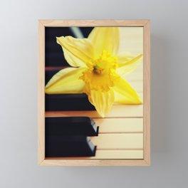 piano flower Framed Mini Art Print