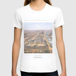 Paris art print Paris Decor office decoration vintage decor PANORAMA DU LOUVRE of Paris T-shirt