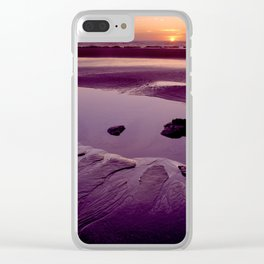 Star fish cove sunset 2aH Clear iPhone Case