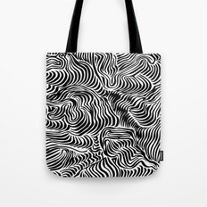 black flow Tote Bag