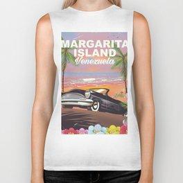 Margarita Island Venezuela travel poster Biker Tank