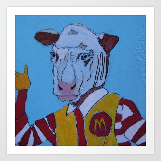COW-McDonald Art Print