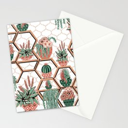 Christmas Succulent Garden. Echeveria, Cacti, plants, aloe vera, pachyveria, haworthia, holiday gift Stationery Cards