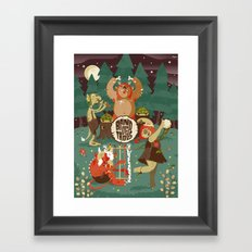 A Band of Trolls Framed Art Print