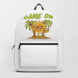 Summertime Game On Summer Sunshine and Palm Trees Summer Vacation Backpack