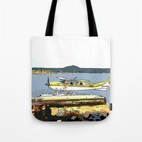 airplane Tote Bags featuring Airplane by Cindys