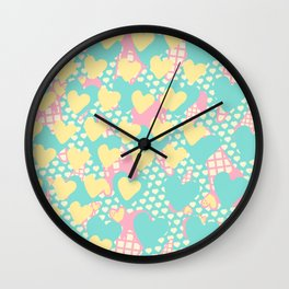 Smashed Pastel Icecreams Wall Clock