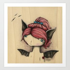 Bat Girl Art Print