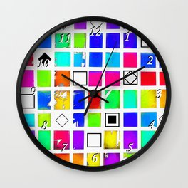 Square and Rhombus Wall Clock