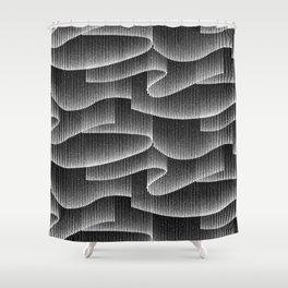 Aurora Borealis_Black and White Shower Curtain