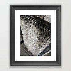 wisdom in stone. Framed Art Print