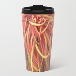 Big Orange Pop Art Chrysthanthemum Travel Mug