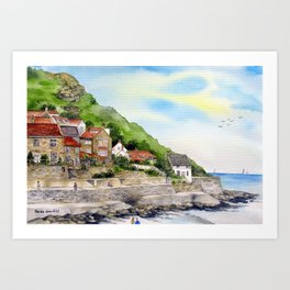 Summer in Runswick Bay Art Print