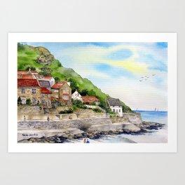 Summer in Runswick Bay Art Print