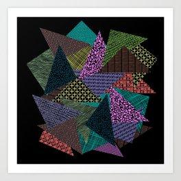 Pattern Mania Collage Vibrant Print Art Print