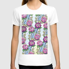 Peony flowers and koalas bears T-shirt