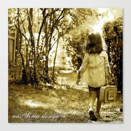 Angel of Hope & Lily Gold Canvas Print
