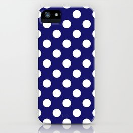 Navy Dots iPhone Case