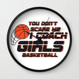 Coach Girls Basketball Sport Gift Wall Clock