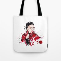 vogue Tote Bags featuring VOGUE by CARLOS CASANOVA