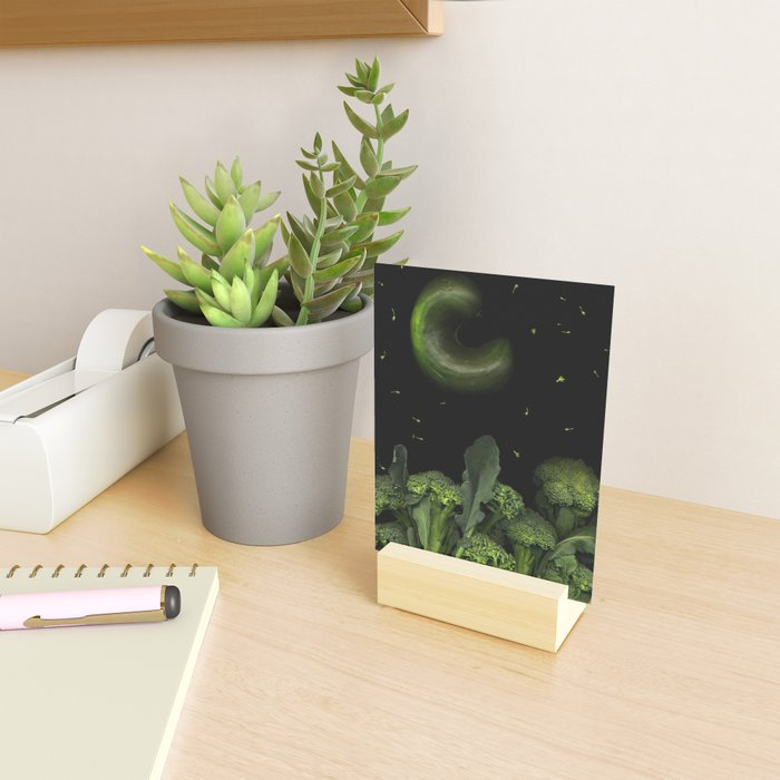 Moon over Broccoli Mini Art Print