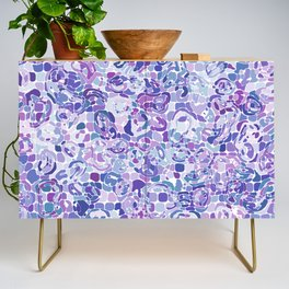 Blue and Purple Blobs Credenza