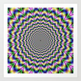 Crinkle Cut Psychedelic Pulse Alternative Color Art Print