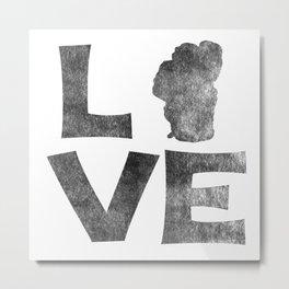 LOVE Tahoe inked Metal Print