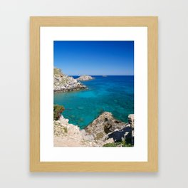 Mediterranean Blue Framed Art Print