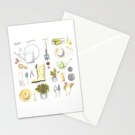 Gardening Tools Stationery Cards