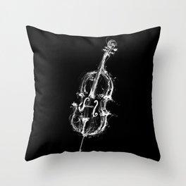 Black Cello Throw Pillow