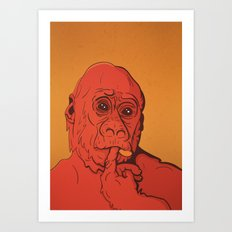 Warm Gorilla Art Print