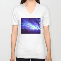 concert V-neck T-shirts featuring Concert Lights by Tyler Shaffer