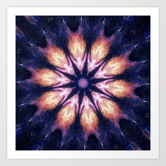 Lightening Mandala Art Print