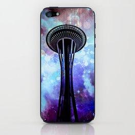 Space Needle - Seattle Stars Clouds Fog iPhone Skin