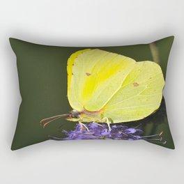 Yellow Butterfly Rectangular Pillow