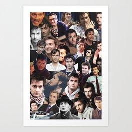 David Tennant collage Art Print