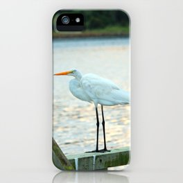 Egret Keeping Watch iPhone Case