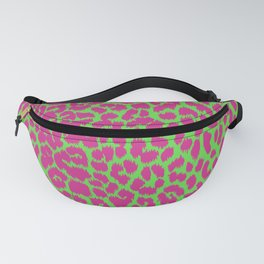 Mint green Pink Cheetah leopard animal print punk psychobilly Fanny Pack