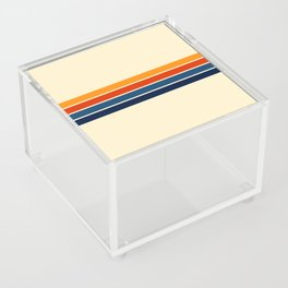 Classic Retro Stripes Acrylic Box
