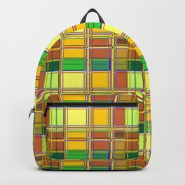 Caribbean Colorful Fabric Madras Tartan Backpack