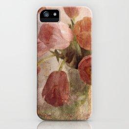 peach tulips iPhone Case