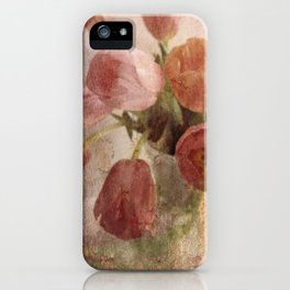peach tulips iPhone Case