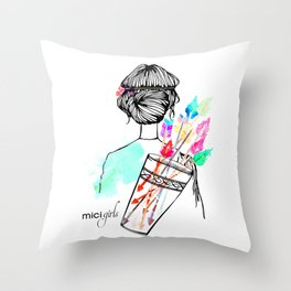 MICI Girls March issue 2016 Throw Pillow
