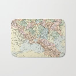 Vintage Map of Russia Bath Mat