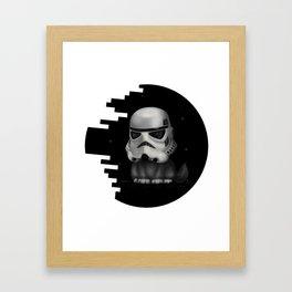 Kitteh Star Trooper Framed Art Print