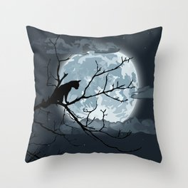 Creature of the night Throw Pillow