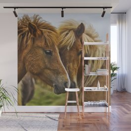 Two horses portrait  Wall Mural
