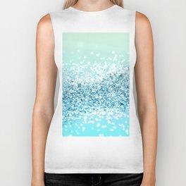 Seafoam Aqua Ocean MERMAID Girls Glitter #2 #shiny #decor #art #society6 Biker Tank