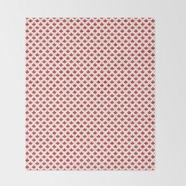 Maple leaf pattern with grey stripes Throw Blanket